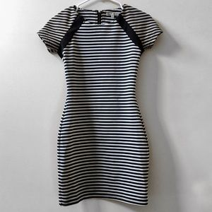 Urban Outfitters Stripe Stretch Short Sleeve Dress